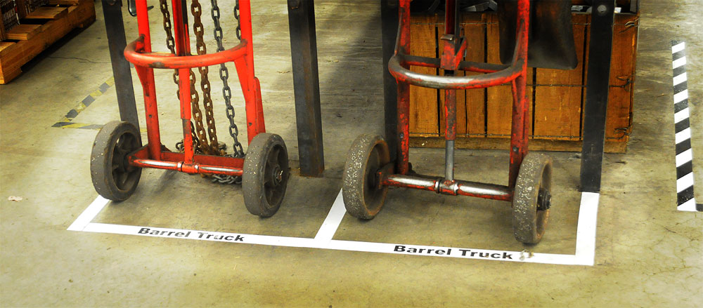 VIBCO Visual Floor Barrel Truck Parking