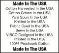 VIBCO T-Shirts are Made in the USA with USA Cotton.